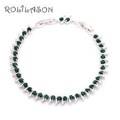 Tb1001 Unique Design Gorgeous Bracelets Silver Plated Peridot Fashion Jewelry