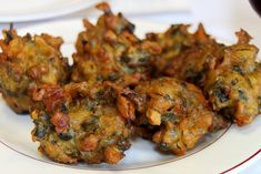 Pakora/Bhajiya - street food in Fiji. Vegetables are dipped in a spicy batter and deep fried to make fabulous fritters.