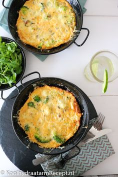 frittata met broccoli en bloemkool