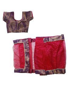 Set: blouse, saree & petticoat www. Kids Saree, Saree Petticoat, Half Saree, Short Dresses, Blouse, Women, Fashion, Short Gowns, Moda