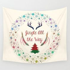 Christmas Eve Wall Tapestry  #tumblr #cute #offers #gift #fashion