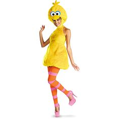 big bird adult halloween costume at walmart