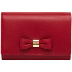 Bow French Purse Poppy Red Silky Nappa
