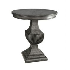 251 First Selby Grey Round Accent Table On SALE