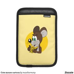 Cute mouse cartoon iPad mini sleeve