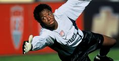 Briana Scurry saved a crucial penalty kick to help USA defeat China in the World Cup. An American hero, a female hero, and an African American hero. African American Heroes, Penalty Kick, Fifa Women's World Cup, Female Hero, Black Artists, Athletic Women, Female Athletes, Soccer Ball, Black Men