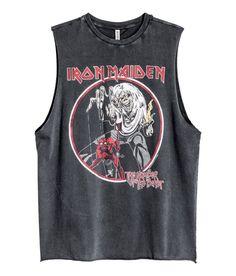 Printtitanktoppi   Musta/Iron Maiden   Naiset   H&M FI