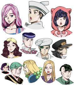 Part 8 characters in part 4 anime style Bizarre Art, Jojo Bizarre, Jojo's Bizarre Adventure, Joestar Jotaro, Jojo Parts, Jojo Anime, Jojo Memes, Fan Art, Anime Style
