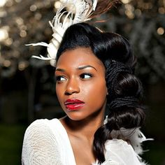 Blog Mulher Virtuosa: CABELO CACHEADO - Penteados Para Noivas Negras