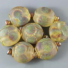 ***Ikuyo Yamanaka's Glass Art Handmade Lampwork Bead Set