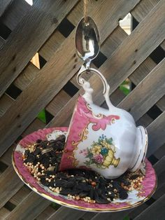 Garden Ornaments, Christmas Ornaments, Garden Bird Feeders, Silver Spoons, Perfect Gift For Her, Upcycled Vintage, Teacup, Gifts For Mom, Etsy Shop