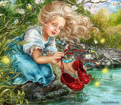Diamond embroidery girl mosaic pictures diy diamond painting full square Pictures of crystals Cross-stitch kits handicraft Most Popular Fairy Tales, Pictures Of Crystals, Queen Images, Female Elf, Baby Fairy, Little Boy And Girl, Cross Paintings, Snow Queen, Russian Art