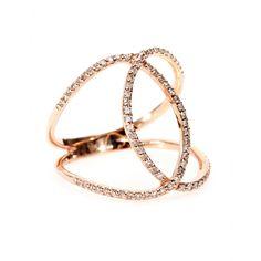 mytheresa.com - 14KT ROSE GOLD PAVE WHITE DIAMOND OVERLAP CIRCLE ETERNITY RING - rings - fine jewelry - Luxury Fashion for Women / Designer clothing, shoes, bags