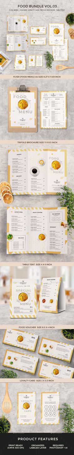 Food Menu Bundle - Food Menus Print Templates Download here : https://graphicriver.net/item/food-menu-bundle/19065690?s_rank=124&ref=Al-fatih