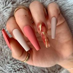 Bling Acrylic Nails, Acrylic Nails Coffin Short, Best Acrylic Nails, Coffin Nails, Cute Acrylic Nail Designs, Luxury Nails, Fire Nails, Nagel Gel, Dream Nails