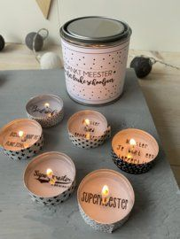 Candle Jars, Candle Holders, Diy Christmas Gifts For Boyfriend, Coffee Cookies, Teacher Gifts, Presents, Gift Wrapping, Diy Crafts, Treats