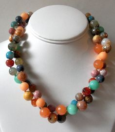 2 strands of assorted gemstones twisted with a 2 by swingropeswing, $39.95