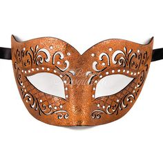 Mens Leather Masquerade Mask Masquerade Mask Leather Mask Rose Gold... ($13) ❤ liked on Polyvore featuring home, home decor, masks, home & living, home décor, ornaments & accents and silver