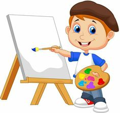"Buy the royalty-free Stock vector ""Vector illustration of Cartoon boy painting"" online ✓ All rights included ✓ High resolution vector file for print, we. Drawing For Kids, Painting For Kids, Art For Kids, School Clipart, Cartoon Boy, Free Vector Illustration, Art School, Cartoon Characters, Kindergarten"