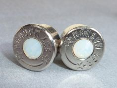 Silver Bullet Casing Jewelry  357 Magnum Nickel by VeryGlassyGifts, $19.99 Bullet Casing Jewelry, Bullet Earrings, Heart Jewelry, Unique Jewelry, 357 Magnum, Silver Bullet, Heart Art, Body Mods, Girly Things