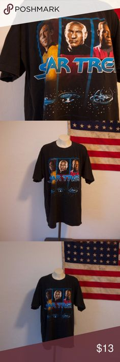 1994 Star Trek vintage tshirt Mens 1994 paramount Pictures Star Trek tshirt. In great condition and soft.  No label. Fits like a mens large. Dimensions below.  pit to pit: 23'' shoulder to bottom hem: 29'' Shirts Tees - Short Sleeve