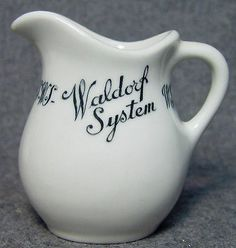 Waldorf Lunch System Restaurant Hotel Advertising China Creamer Springfield MA