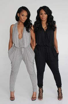 draped in jersey jumpsuit