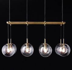 Languedoc Linear Chandelier Antique Burnished Brass | RH Modern