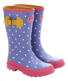 Another great find on #zulily! Light Blue Spot Junior Welly Rain Boot - Kids by Joules #zulilyfinds