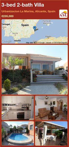 3-bed 2-bath Villa in Urbanizacion La Marina, Alicante, Spain ►€235,000 #PropertyForSaleInSpain