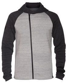 The Phantom Fleece Zip Men's Hoodie features a thermal construction for lightweight warmth in a ...