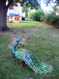 peacock statue for the yard