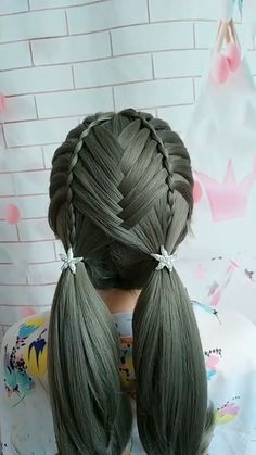 Bun Hairstyles For Long Hair, Braids For Long Hair, Girl Hairstyles, Braided Hairstyles, Girls Hairdos, Hair Tips Video, Hair Videos, Front Hair Styles, Medium Hair Styles