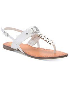 cc6e50625d1a G by Guess Lorrie T-Strap Flat Sandals Flip Flop Sandals