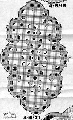 Szydełkomania: Serwetka Crochet Flower Patterns, Crochet Stitches Patterns, Crochet Motif, Crochet Designs, Crochet Table Runner, Crochet Tablecloth, Crochet Carpet, Filet Crochet Charts, Crochet Dollies