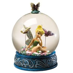 Enesco Disney Traditions Designed by Jim Shore Tinker Bell Water Ball Waterball 6 in Tinkerbell And Friends, Peter Pan And Tinkerbell, Disney Fairies, Tinkerbell Disney, Water Globes, Snow Globes, Globes For Sale, Disney Snowglobes, Globe Crafts