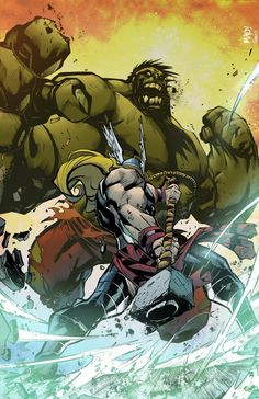 #Hulk #Fan #Art. (Hulk vs Thor) By: CallahanColor. ÅWESOMENESS!!!™ ÅÅÅ+