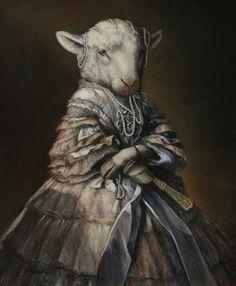 """Madame Ewe"" by Melinda Copper - Anthropomorphic art"