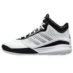 Adidas Outrival Mens C76814-WHT White Black Basketball Shoes Sneakers Size 10.5