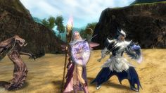 Me and Hubby.. photobombed by a Risen Krait.. #GuildWars2 @ArenaNet Team @GuildWars2