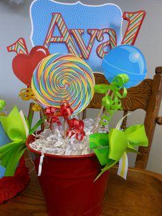 Candy Land Birthday centerpiece-Boy or Girl
