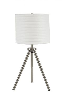 Susette Brushed Silver Table Lamp