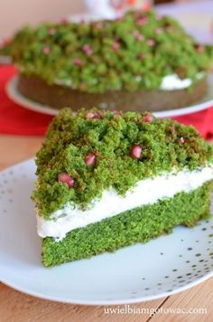Leśny mech (Ciasto ze szpinakiem i granatem) Gravity Cake, Types Of Cakes, Avocado Toast, Cheesecake, Food And Drink, Cooking Recipes, Pudding, Baking, Breakfast