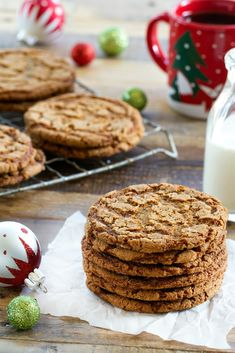 Crispy Ginger Cookies are a dream holiday cookie. Crispy, crunchy with a delectable ginger flavor!
