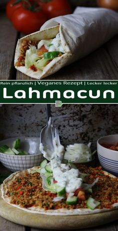(Turkish pizza) - Do you miss Lahmacuns? The nimble, Turkish pizza that you can find at almost every kebab shop? You -Lahmacun (Turkish pizza) - Do you miss Lahmacuns? The nimble, Turkish pizza that you can find at almost every kebab shop? You - Pizza Recipes, Vegetarian Recipes, Dinner Recipes, Healthy Recipes, Pizza Snacks, Pizza Pizza, Pizza Kebab, Pizza Lasagne, Lasagna Recipes