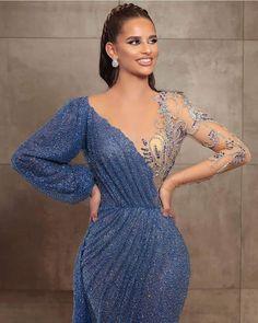 Hijab Dress Party, Hijab Evening Dress, Blue Evening Dresses, Evening Dresses For Weddings, Party Gowns, Evening Gowns, Indian Gowns Dresses, African Fashion Dresses, Prom Dresses