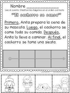 RECORTANDO SECUENCIAS TEMPORALES 2  con PRIMERO, LUEGO, DESPUES, AL FINAL