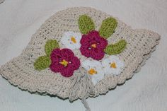 Cotton summer hat, Sun hat, girls hat, Floral summer hat, Crochet flower hat, natural cotton hat, Winter hat, Kids hat, Childrens clothing by JaxStarClothing on Etsy Crochet Flower Hat, Flower Hats, Crochet Hats, Summer Hats, Winter Hats, Cotton Hat, Kids Hats, Girl With Hat, Sun Hats
