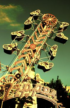 """The Zipper was one of the first """"grown up"""" rides I can remember going on in Emporia, Kansas.  I let go of my coin purse and coins were pinging off the sides!"""