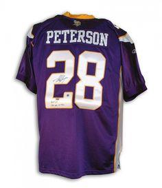 ce4cb95a AAA Sports Memorabilia LLC - Adrian Peterson Minnesota Vikings Autographed  Purple Authentic Reebok Jersey Inscribed
